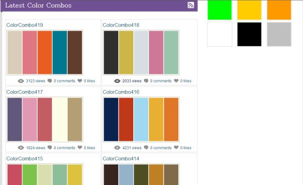For colorcombo ideas check out the combo library the library