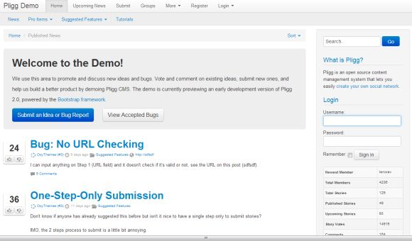 Pligg is an open source content management system available for